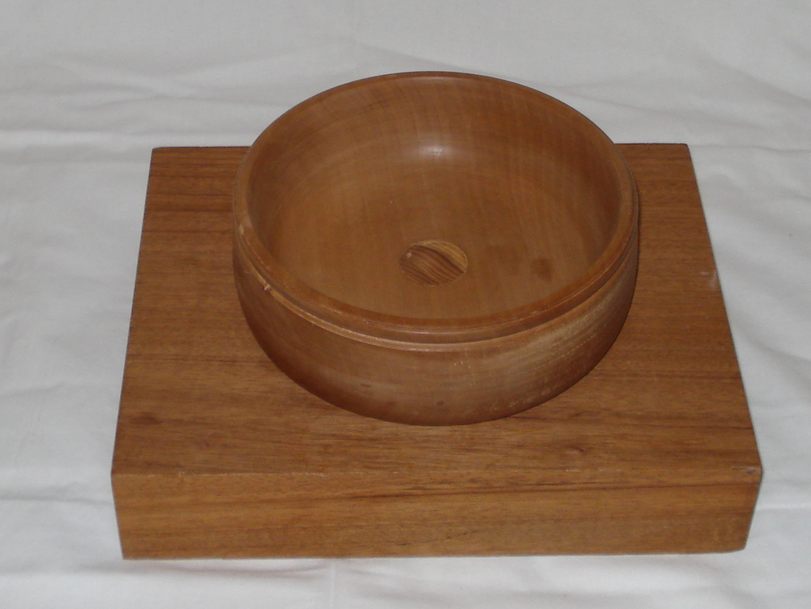 Cherry bowl with Laburnum insert