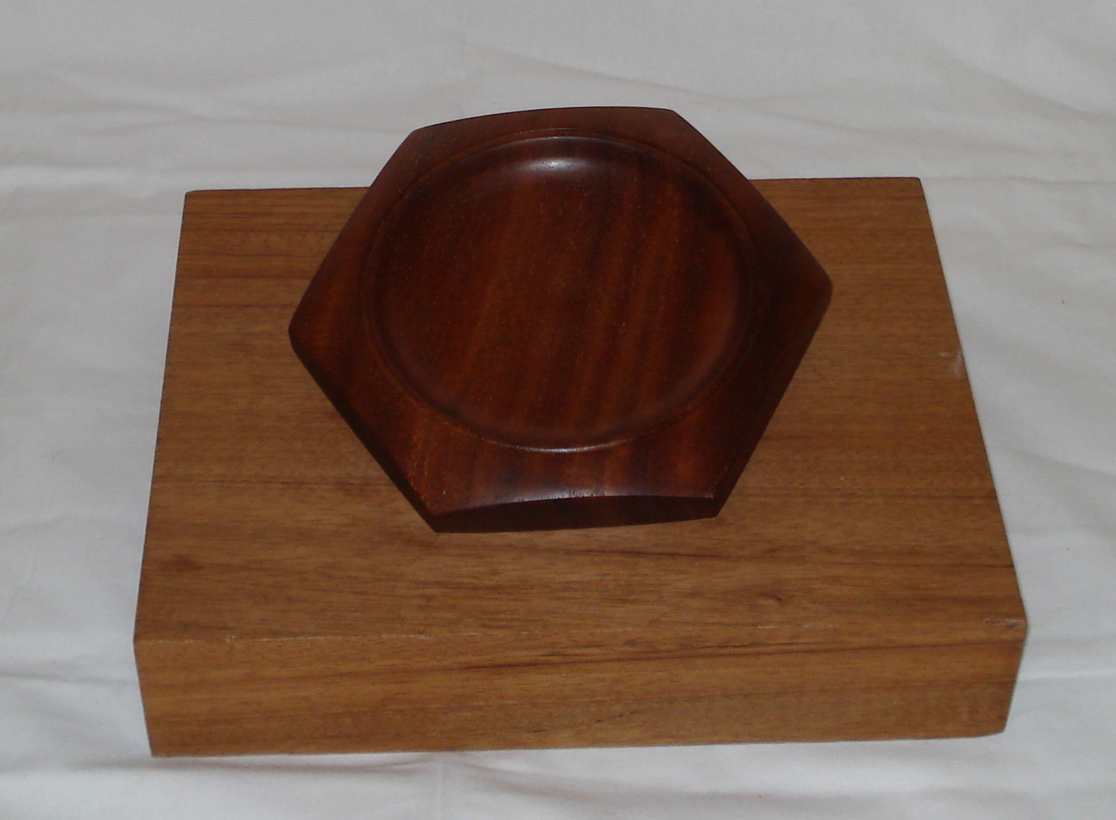 six sided Mahogany Platter