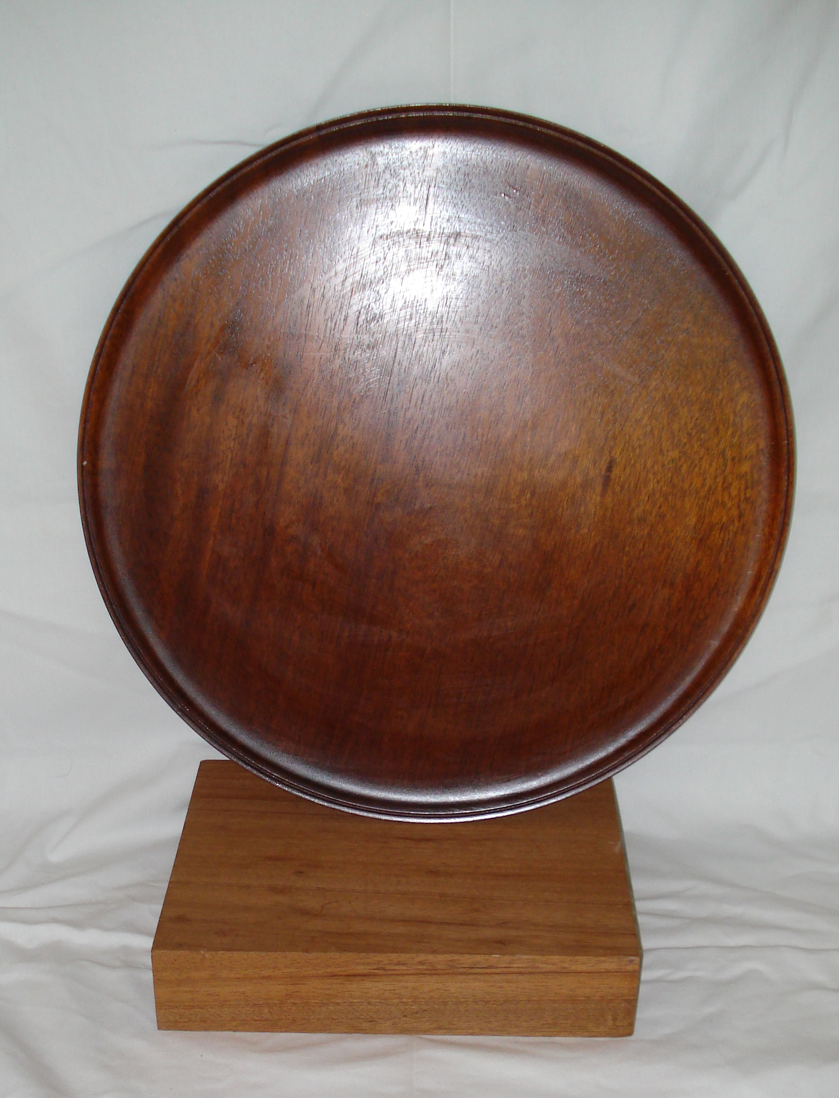 round Flame Mahogany Table Top