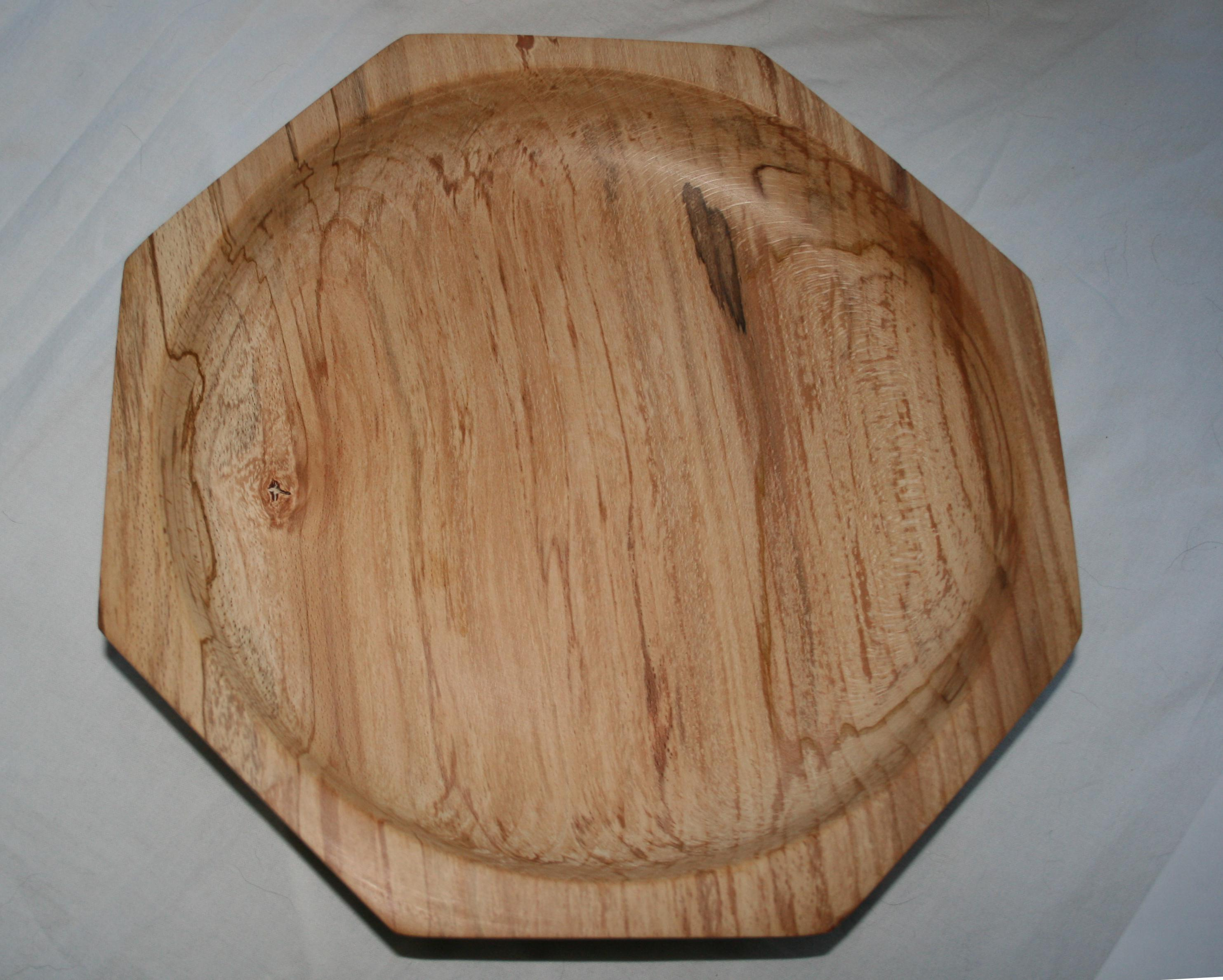 Large eight sided Spalted Beech bowl