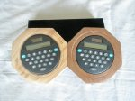 Pair of Calculators in either Yew or Mahogany surrounds