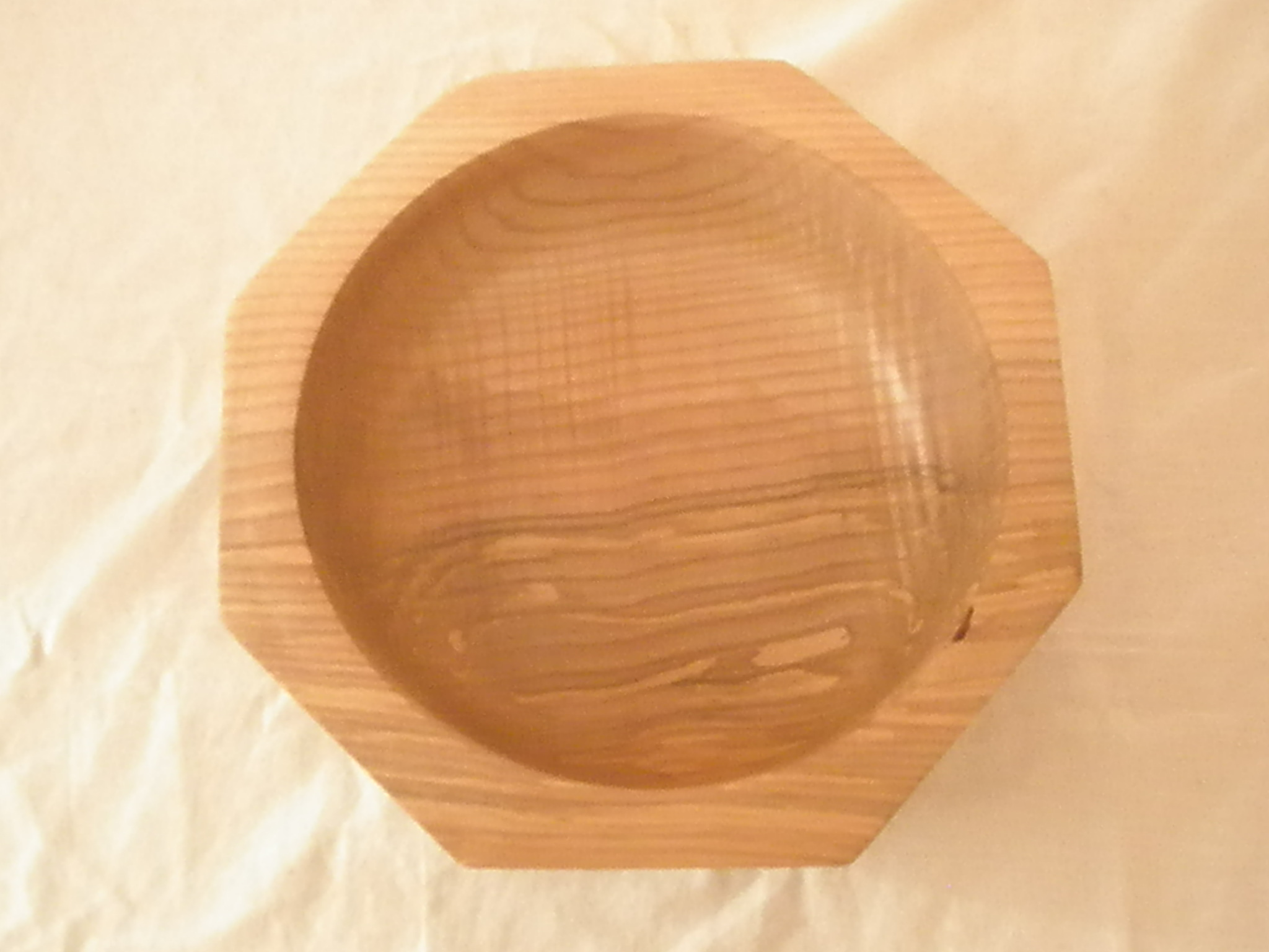 Eight sided Ash bowl